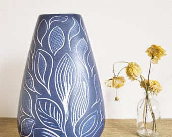 Vintage 60-70s blue vase by Thoms from West Germany