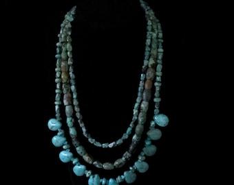 Turquoise Multi Strand Necklace