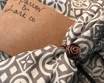 Copper Wire Rose Ring - Size 4