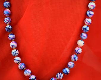 Swirl Beaded Necklace