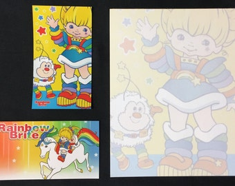 Rainbow Brite and Twink Notepad with BONUS Magnets Starlite 1980s cartoon Vintage Character Design