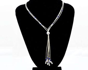 Native American Liquid Silver and Lapis Lazuli Necklace