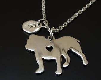 Bulldog Necklace, Bulldog Charm, Bulldog Pendant, Bulldog Jewelry, English Bulldog Necklace, English Bulldog Charm, Bulldog Lover Gift, Dog