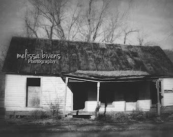 Abandoned House Photography, US Rt 52, Black and White Photography, Ohio