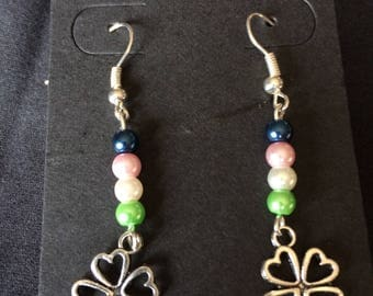 Sterling Silver Four Leaf Clover Earrings