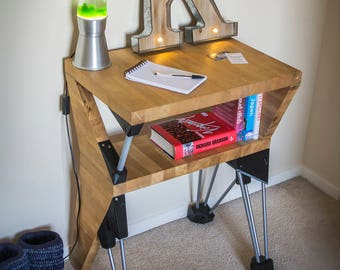 Bedside table / console table / small desk from recycled materials 61Wx42Dx80H