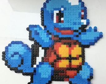 Squirtle / Squirtle - Pokemon Pixel art beads