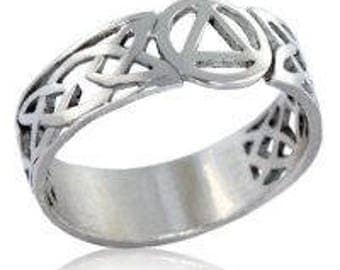 Sterling Silver AA Celtic Ring