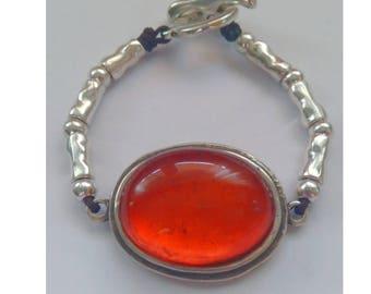 Orange resin bracelet