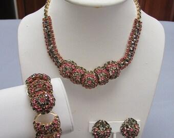 Vintage Jewelry Ensemble Four Piece