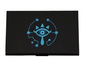 "Zelda Sheikah Eye SMALL Card Case - FREE SHIPPING - Nintendo Switch - 2""x 3.5"" card holder - Great Gift!"