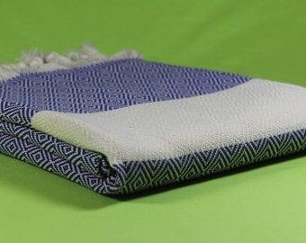 Blue Turkish Bath Towels, Turkish Cotton Peshtemal, Natural Cotton Beach Towel, Hammam Towel, Turkish Beach Towel, Turkish Towel, Towel