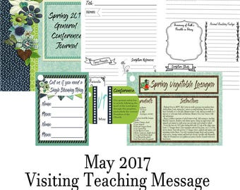 2017 May Visiting Teaching Message: General Conference-INSTANT DOWNLOAD