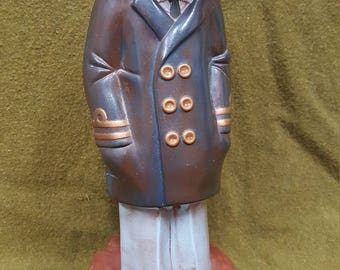 Vintage Hand Painted Ceramic Sea Captain