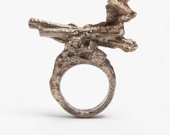 Unique ring, handmade beautiful unusual designer jewellery hand made in London