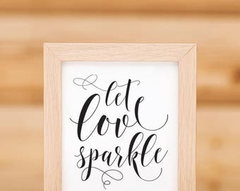 Send off sign etsy let love sparkle send off sign template 02 pronofoot35fo Image collections