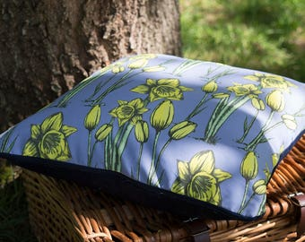 Daphne Daffodil Purple Cushion Cover