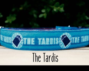 Tardis, Cyberman, and Dalek Doctor Who Inspired Boy/Girl Dog Collar