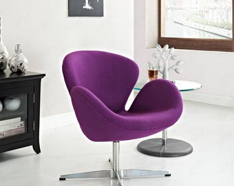 Arne Jacobsen swan chair in cashmere or Italian leather -free shipping!