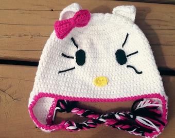 Hello Kitty Inspired Beanie