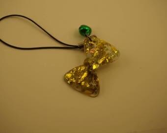 Golden Bow Cellphone Charm
