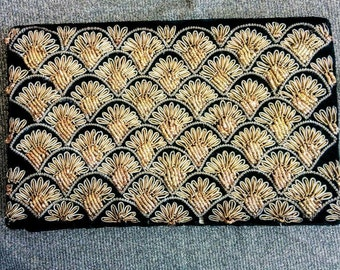 Vintage embroided clutch