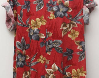 "90's Vintage ""CAMPIA MODA"" Short-Sleeve Hawaiian Shirt Sz: LARGE (Men's Exclusive)"
