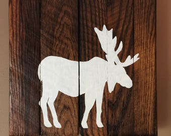 Rustic Moose Wall Decor