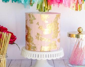 Gold Leaf Cake- Fake cake, prop cake, party decor