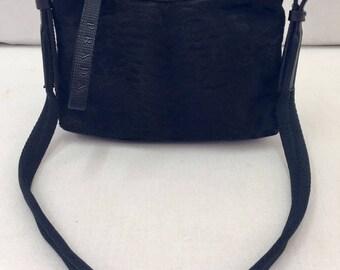 "Small handbag in black pony signed ""Prada"""