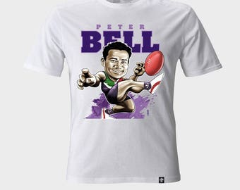 T-shirt Caricature Peter Bell Fremantle Dockers