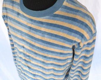 Sauve! Vintage 80's Velour PIERRE CARDIN Pullover Shirt Sweater VELVET Lounge