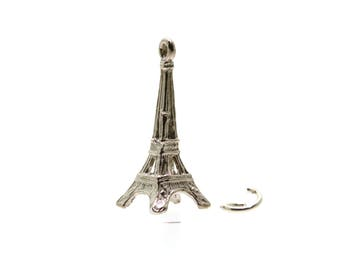 French Eiffel Tower Traditional Silver Charm