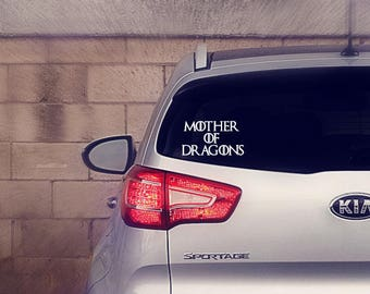 Mother of Dragons Car Decal Sticker | Game of Thrones Car Decal Sticker | Game of Thrones