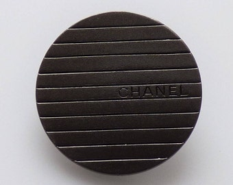 Chanel Fabric Swatch one button Authentic 22mm