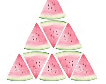 Sheet of pyramid of watermelons
