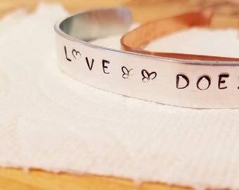 Love Does cuff bracelet