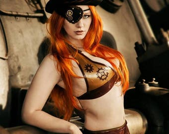 Steampunk LaTeX bikini top colour of choice