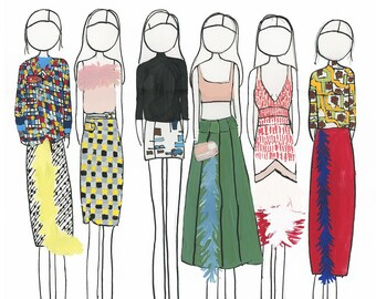 Prada fashion drawing