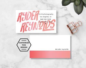 MODERN SIGNATURE Business Card Template / Business Card Design / Gradient Business Card / Artistic Business Card / Modern Business Card