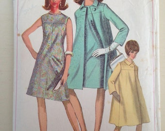 Vintage Simplicity 6977 Dress Coat Size 14 Bust 34 Sixties