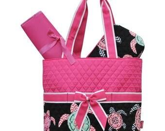 Sea Turtle Diaper Bag - Personalized Diaper Bag - Monogrammed Diaper Bag - Baby Diaper Bag - Monogrammed Diaper Bag - Embroidered Bag
