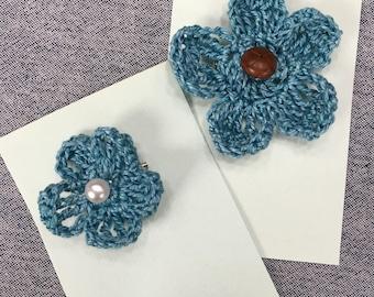 Crochet flower pin - teachers gift - flower pin - free shipping!