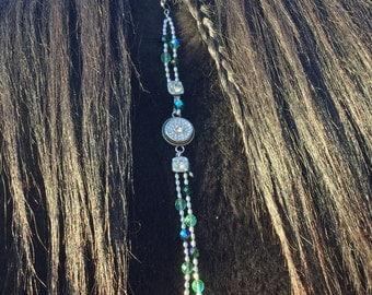 Rhythm Beads For Horse Mane Dangle Mane Clip Rhinestone Bling Czech Glass Beads Silver Artisan Original Snap Charm Jewlery
