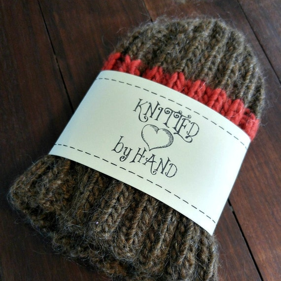 Knitting Labels Hand Knit By : Printable pdf knit dishcloth label wrappers knitted by