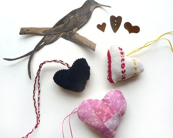 Handmade Hearts Retro Valentines Gift Folk Primitive Art (4)