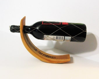 Amazing Balancing Wine Bottle Holder Made Of Five Woods