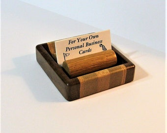 Business Card Holder Box Made From Three Woods