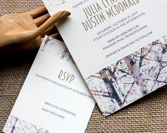 Tree Branch Weddings Invitations