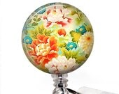 Colorful Flowers Retractable ID Badge Holder - Pretty Badge Reel - Name Badge Holder 66